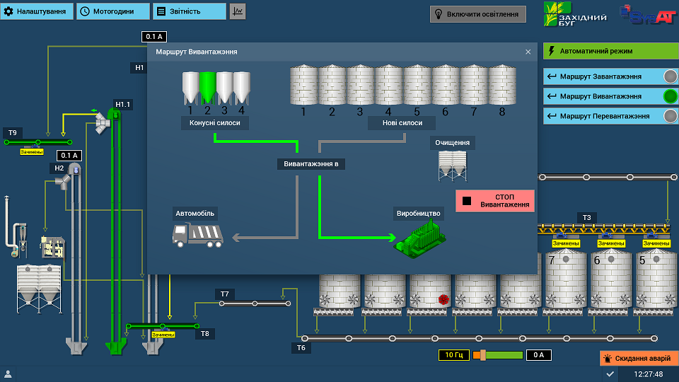 Система управления элеватором Simple-Scada